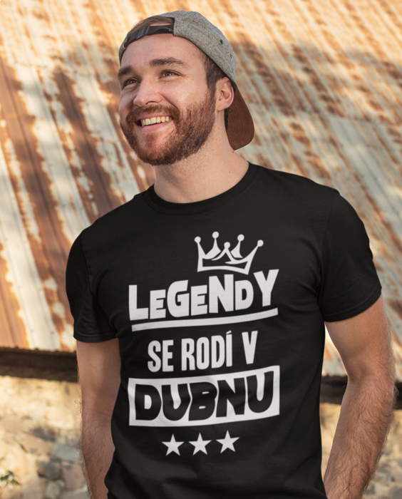 Vtipné tričko legendy se rodí v MĚSÍC DLE PŘÁNÍ