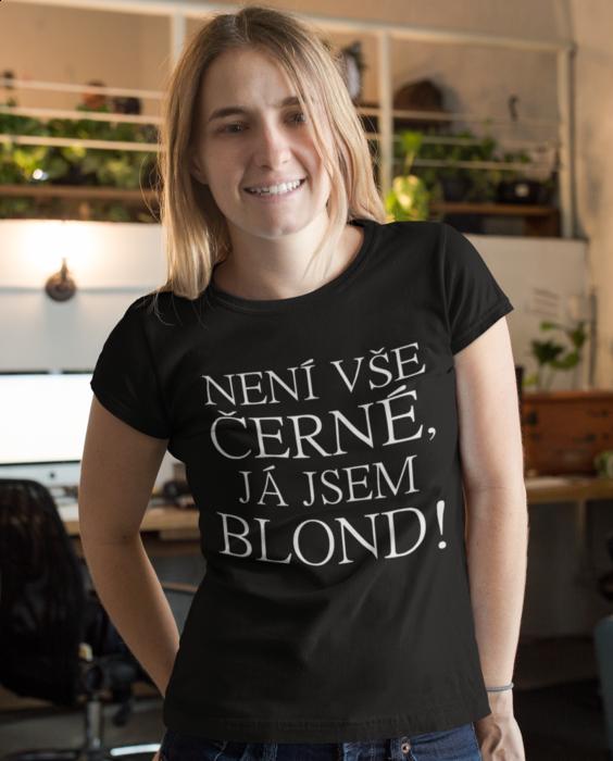 Vtipné tričko není vše černé