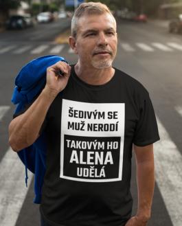 Vtipné tričko šedivý muž