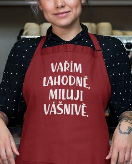 Vtipné zástěry vařím lahodně, miluji vášnivě
