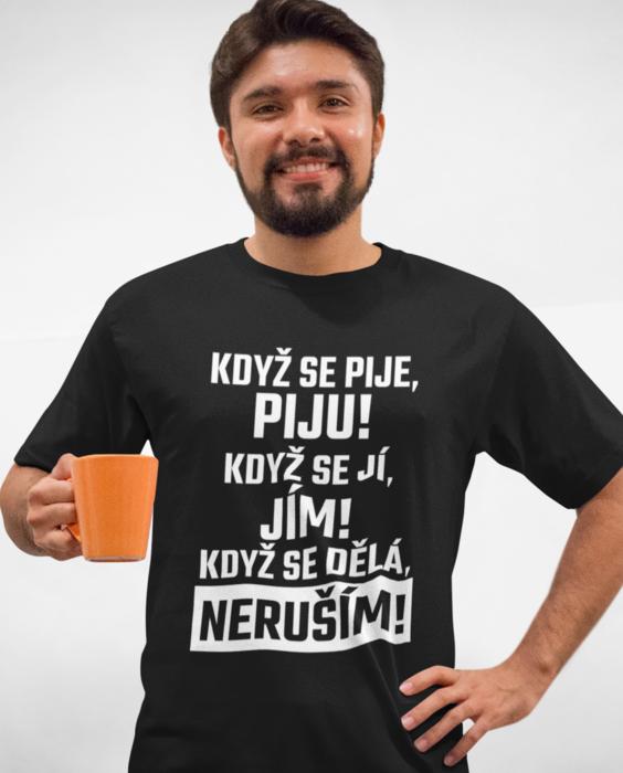 Levně Vtipné tričko tričko neruším